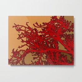 Blood Coral Metal Print