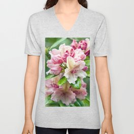 PINK RHODODENDRON Unisex V-Neck
