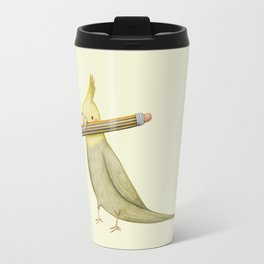 Cockatiel & Pencil Travel Mug