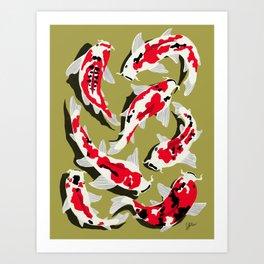 Koi Carp Zen Art Print