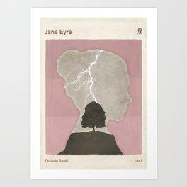 Charlotte Brontë Jane Eyre - Minimalist literary design Art Print