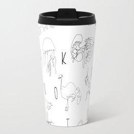 Blind Contour Alphabet Travel Mug