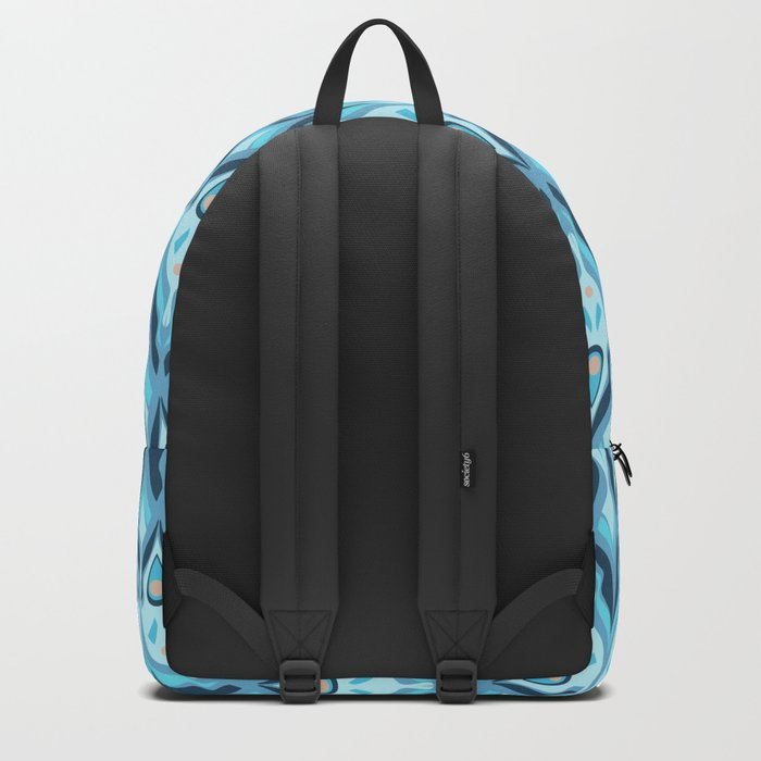 Gray-blue striped pattern . Backpack