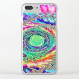 Fantasy of Colours Clear iPhone Case