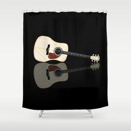 Pale Acoustic Guitar Reflection Shower Curtain