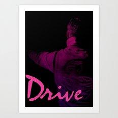 Ryan Gosling in Drive Art Print