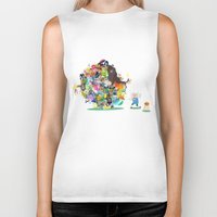 katamari Biker Tanks featuring Adventure Time - Land of Ooo Katamari by Sin nombre