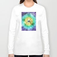 tie dye Long Sleeve T-shirts featuring Colorful Tie Dye Graphic by Phil Perkins