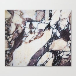 Mauve marble classic Canvas Print