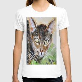The Curious Tabby Cat T-shirt