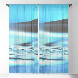 The Blues Sheer Curtain