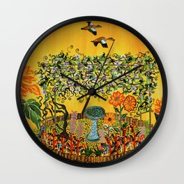"""""""Fiori della Passione"""" by ICA PAVON Wall Clock"""