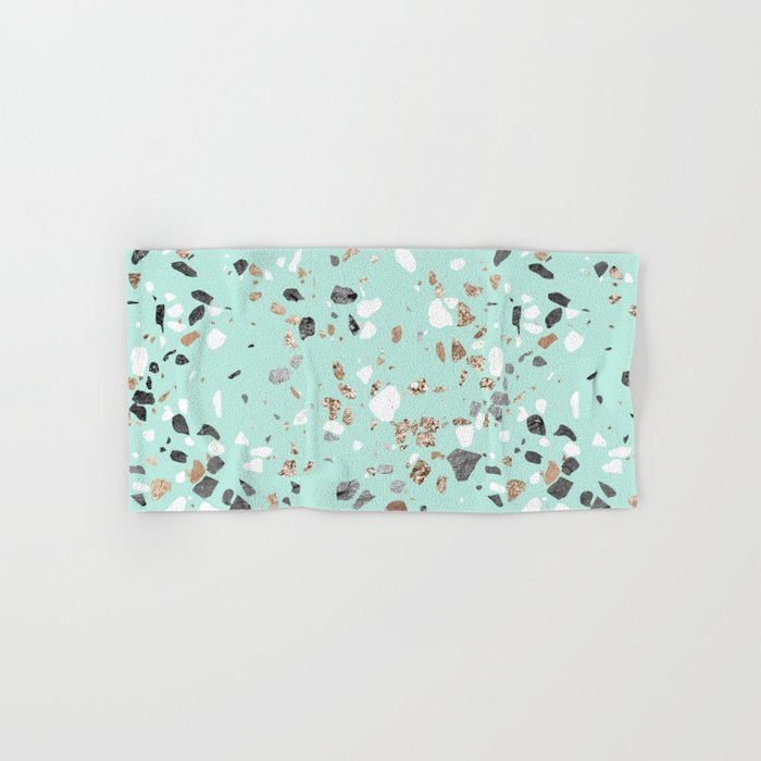 Mint Green Bath Towels Unique Glitter And Grit Marble Mint Green Hand Bath Towel By