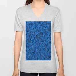 Gaudy abstract, funky blue Unisex V-Neck