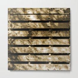 Wood Palette Metal Print
