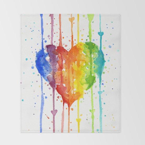 Heart Rainbow Watercolor Love Wins Colorful Splatters