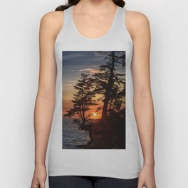 Sunset through the Trees Unisex Tank Top
