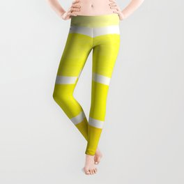 Yellow Minimalist Mid Century Modern Color Fields Ombre Watercolor Staggered Squares Leggings