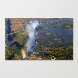 Flight over the Victoria Falls, Zambia Canvas Print