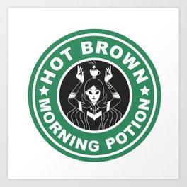 Hot Brown Morning Potion Art Print