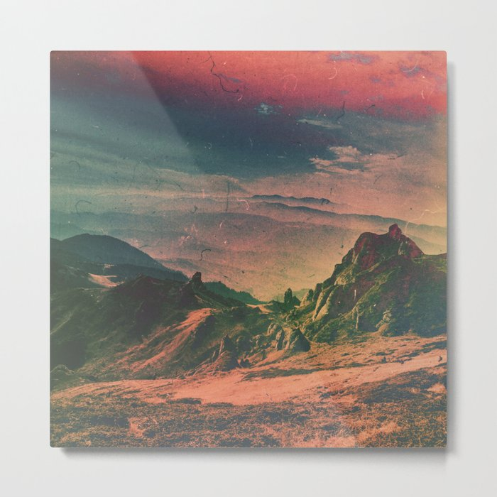 Psychedelic Planet Metal Print