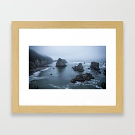 Between Dawn and Sunrise at Arch Rock Picnic Area, No. 2 Framed Art Print