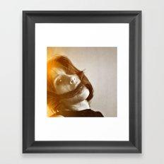 la femme phoenix II Framed Art Print