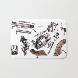 Exploded Gun Bath Mat