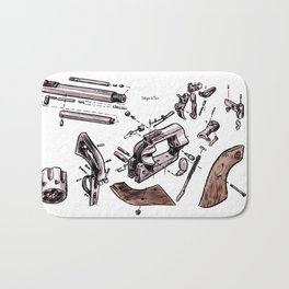 Exploded Gun Bath Mat