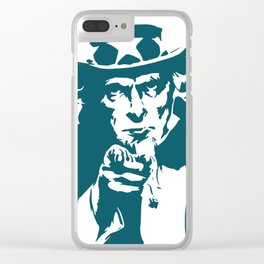 Uncle sam hat stars usa america Clear iPhone Case