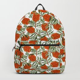 Bottlebrush Flower - White Backpack