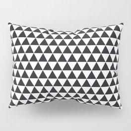 PATTERN#02 =Triangles/BLACK+WHITE= Pillow Sham
