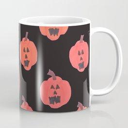 Halloween Jack-o-Lanterns on Black Coffee Mug