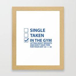 Single Taken In The Gym Framed Art Print