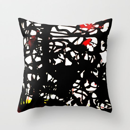 black tangle Throw Pillow