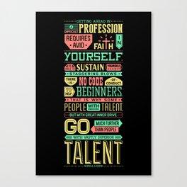 Lab No. 4 Getting Ahead Sophia Loren Motivational Quotes Canvas Print