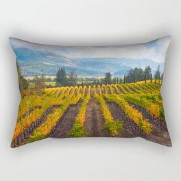 Autumn Vineyard Vista Rectangular Pillow