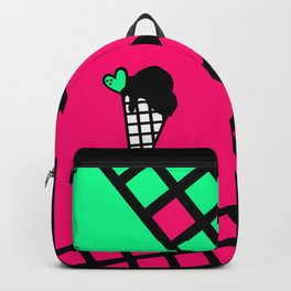 Neon Pink Snow Cone Icecream Backpack