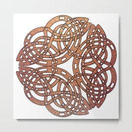 Abstract Celtic Design Metal Print