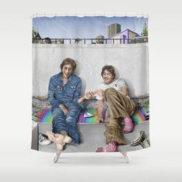 John and Paul get away from it all Shower Curtain