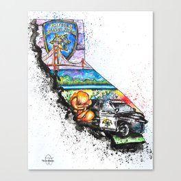 California Highway Patrol Canvas Print