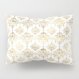 White & Gold Motif Pillow Sham