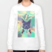 saga Long Sleeve T-shirts featuring galactic Cats Saga 3 by Carolina Nino
