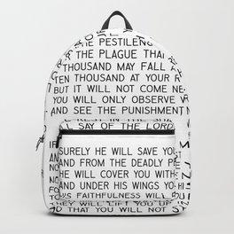 Psalm 91 #minimalism Backpack