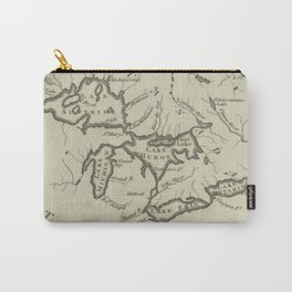 Vintage Map of The Great Lakes (1794) Carry-All Pouch