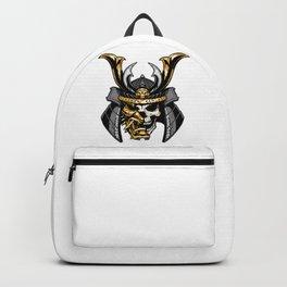 Gold Samurai Skull Backpack