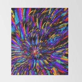 Mardi Gras - Celebration of Color Throw Blanket