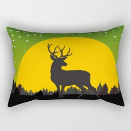 Deer Stars Moon Rectangular Pillow