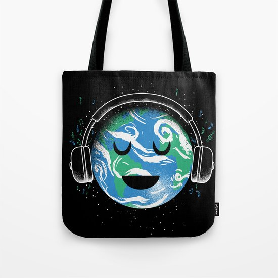 The whole planet loves music Tote Bag