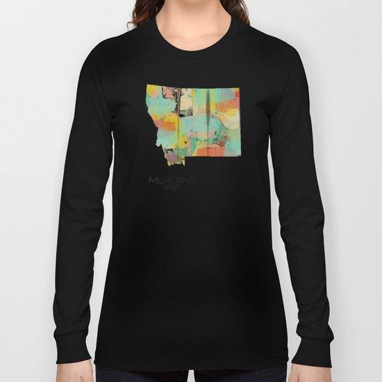 Montana state map  Long Sleeve T-shirt